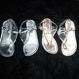 Silver and Copper Sandals